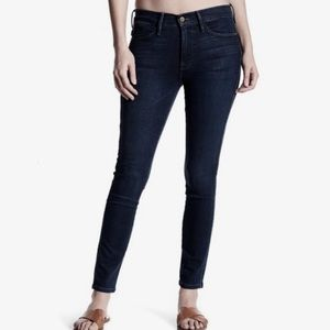 Frame Le High Skinny Cropped Dark Wash Jeans NEW